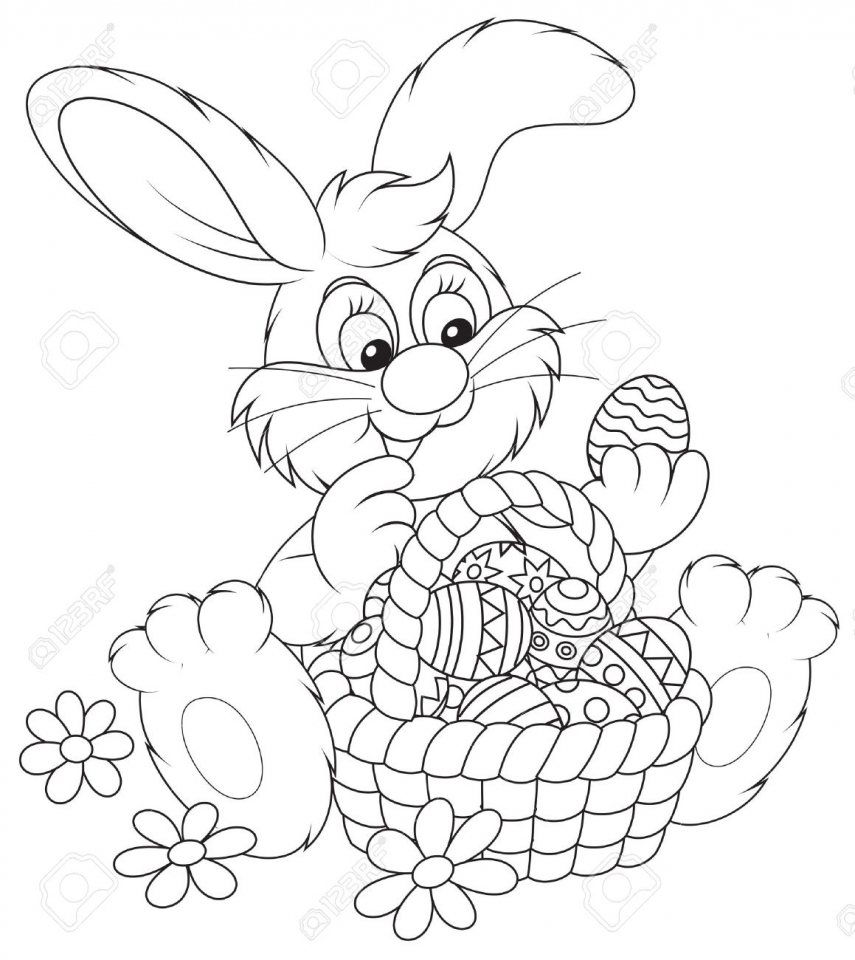 Get This Easter Bunny Coloring Pages For Preschoolers 73610 Easter Bunny Coloring Pages