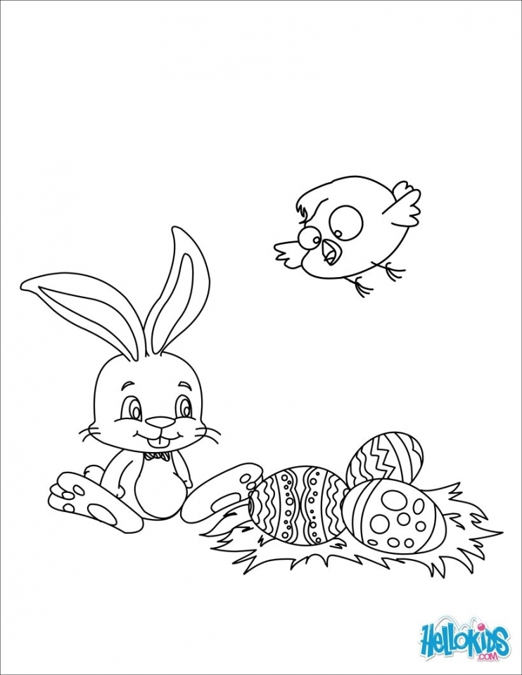 Get This Easter Bunny Coloring Pages For Preschoolers 95731