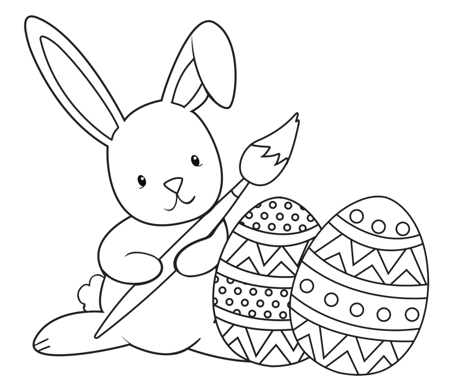 Get this easter bunny coloring pages free 51992 for Free online easter bunny coloring pages