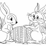 Easter Bunny Coloring Pages Free   63122