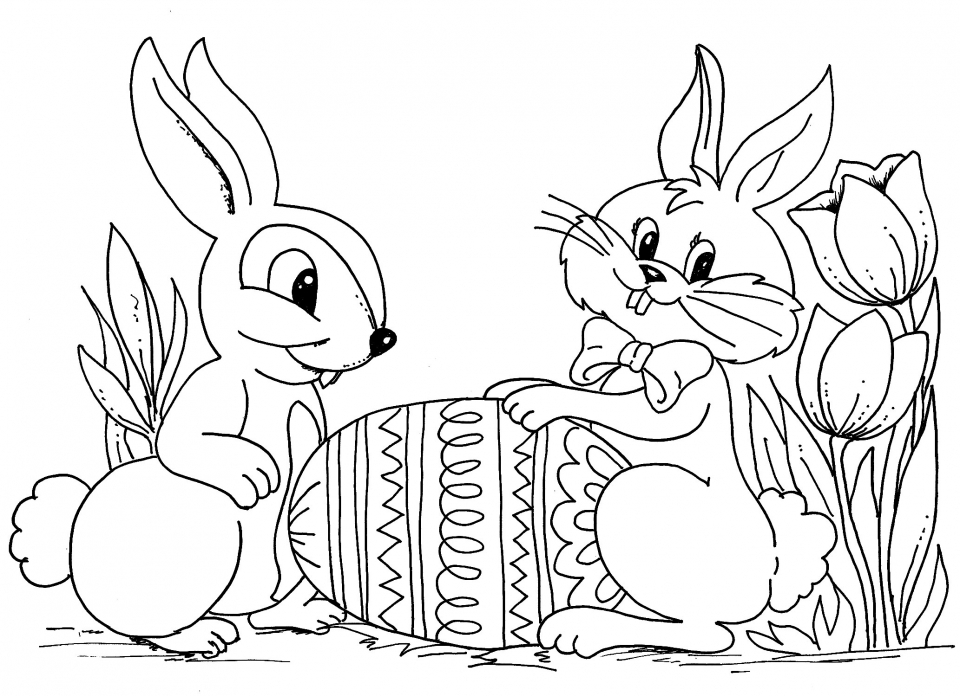 Easter Rabbit Coloring Pages Free. Easter Bunny Coloring Pages Free 63122 Get This