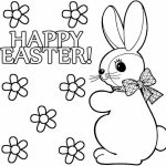 Easter Bunny Coloring Pages Free   65401