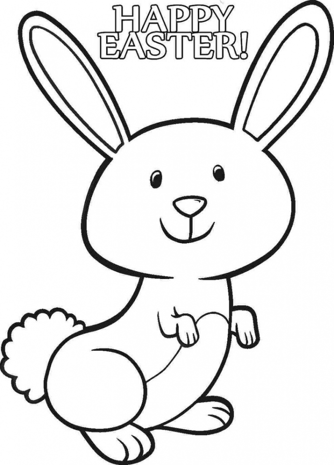 Easter Bunny Coloring Pages Free Printable 46721