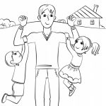 Father's Day Card Coloring Pages   4ak80