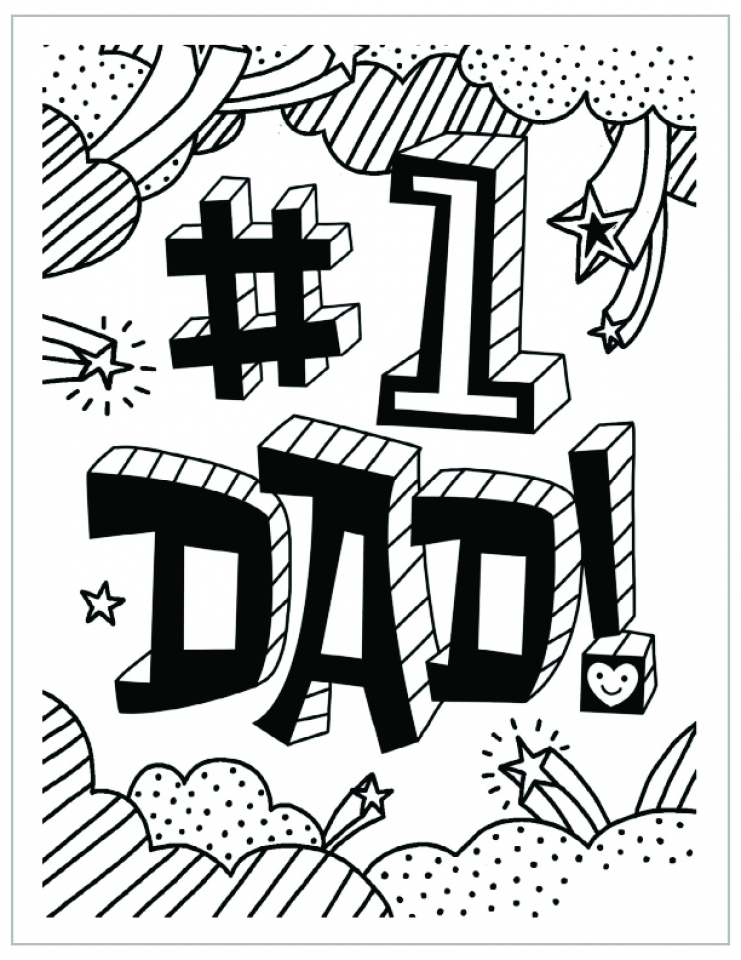 Father's Day Coloring Pages Free Printable   yafe3