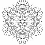 Flowers Mandala Coloring Pages for Adults   ycv41