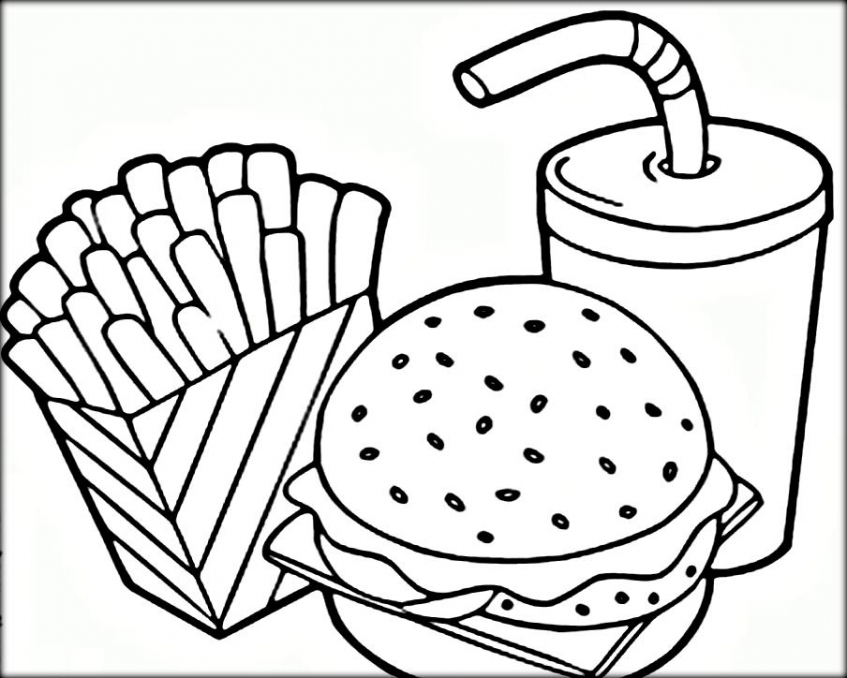 20+ Free Printable Food Coloring Pages - EverFreeColoring.com