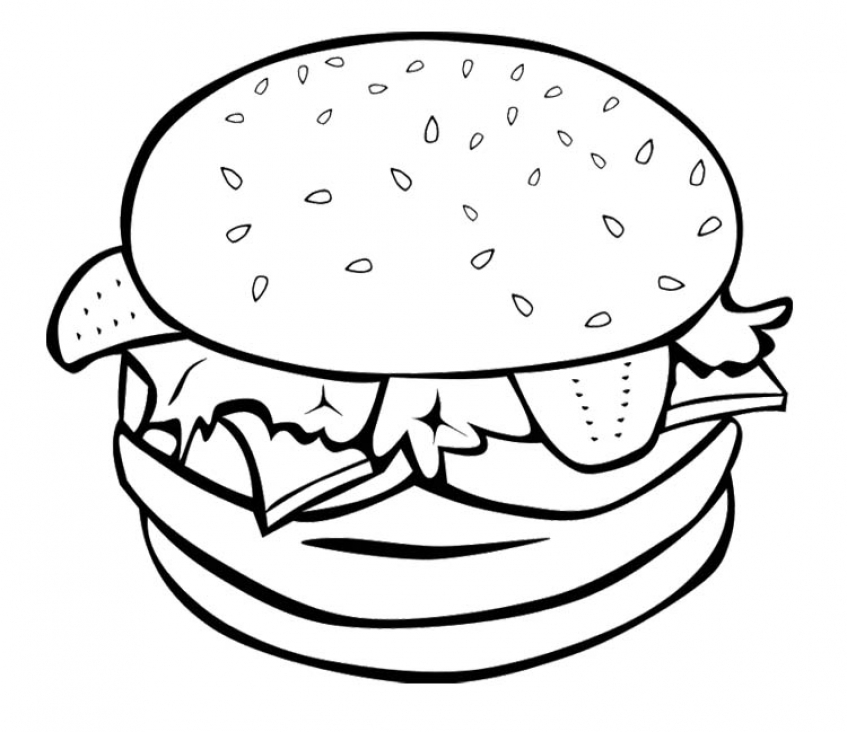 Food Coloring Pages hamburger   ycr3b