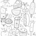 Food Coloring Pages picnic food   hj2b7