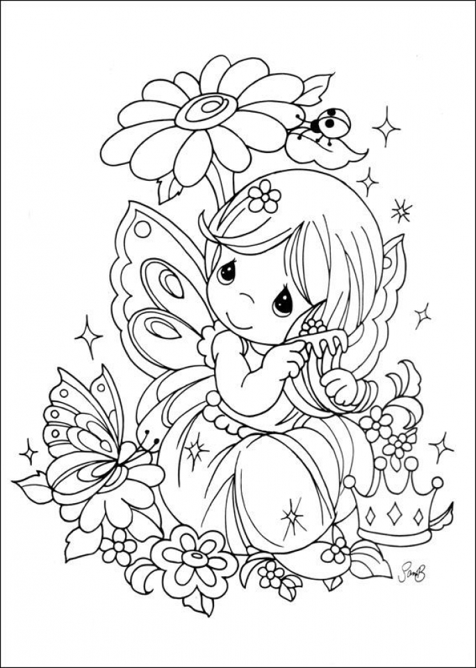 Free Precious Moments Coloring Pages   5621