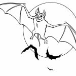 Halloween full moon Bat coloring pages   sa2m7
