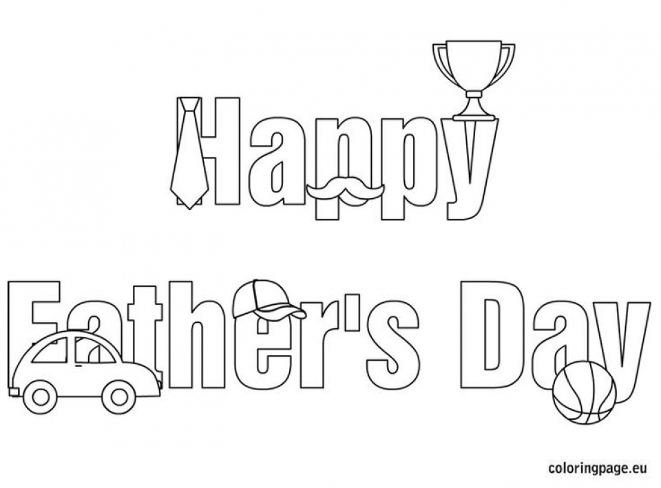 Get This Happy Father\'s Day Coloring Pages Printable 5ab32 !
