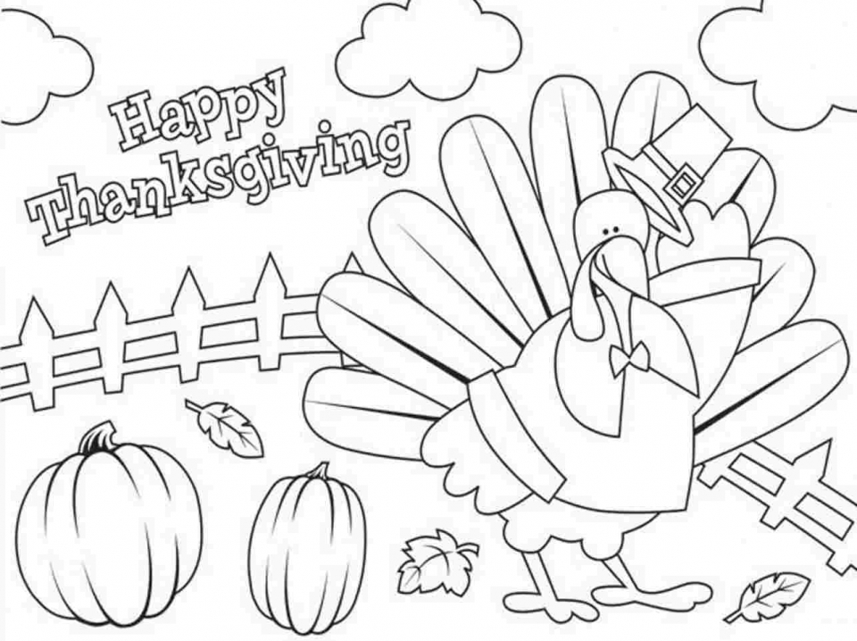 Get this happy thanksgiving coloring pages 8cb41 for Thanksgiving coloring pages that you can print