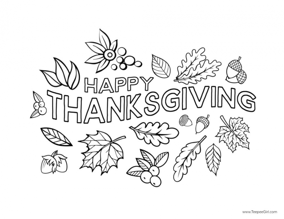Get This Happy Thanksgiving Coloring