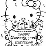 hello kitty coloring pages birthday   yavp2
