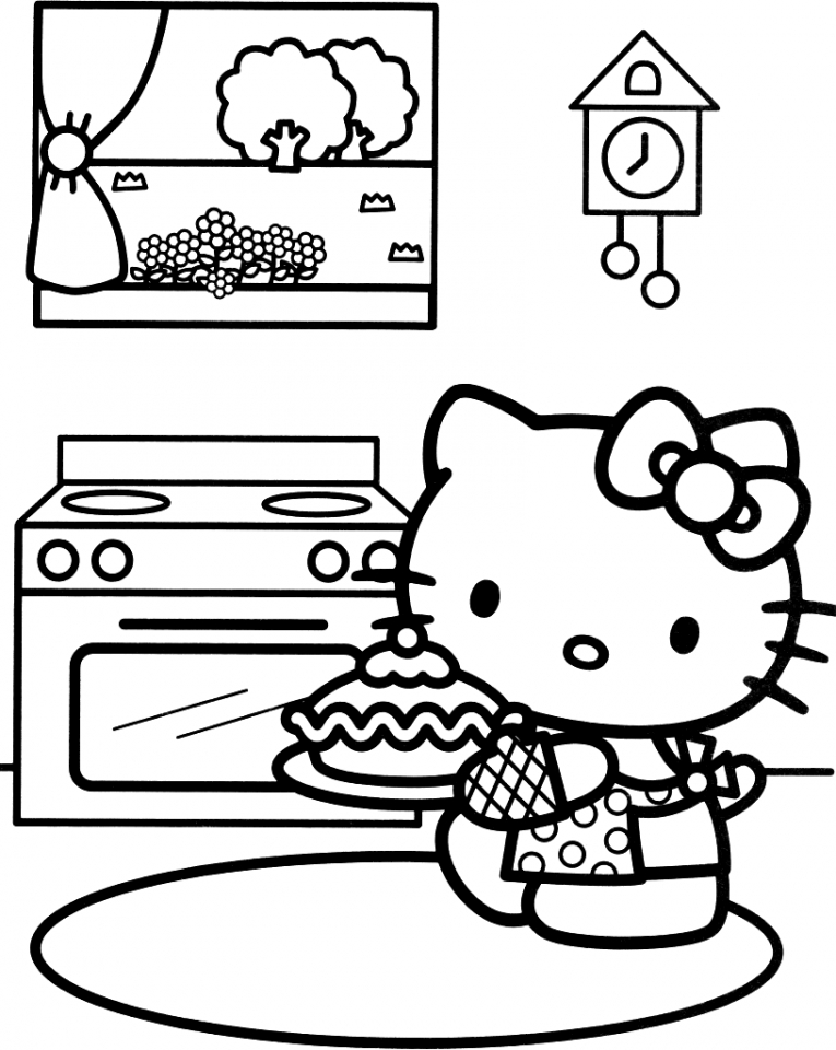get this hello kitty coloring pages online wat3b. Black Bedroom Furniture Sets. Home Design Ideas