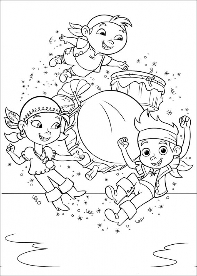 Get This Jake And The Neverland Pirates Coloring Pages Disney Jr Jake And The Neverland Coloring Pages