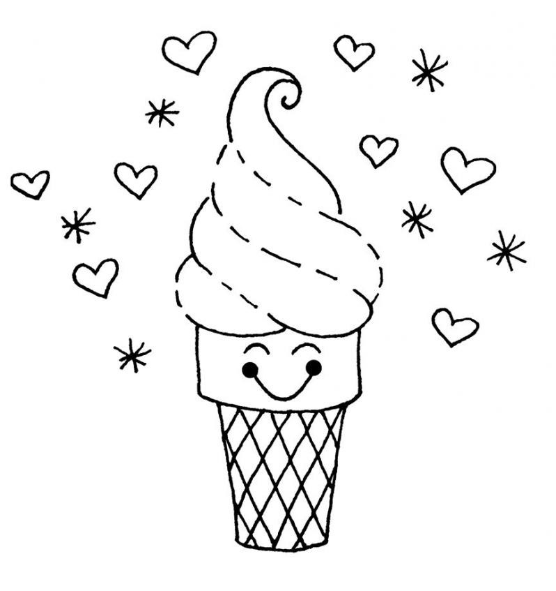 Kawaii food coloring pages   8210l