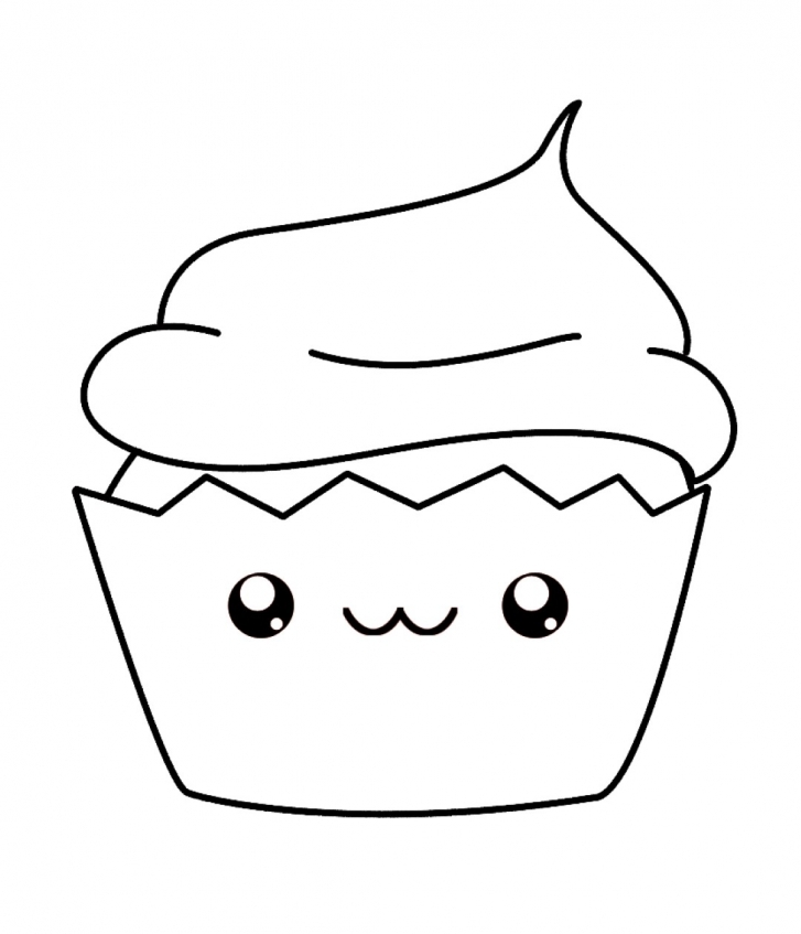 kawaii food coloring pages p47c3 - Food Coloring Pages