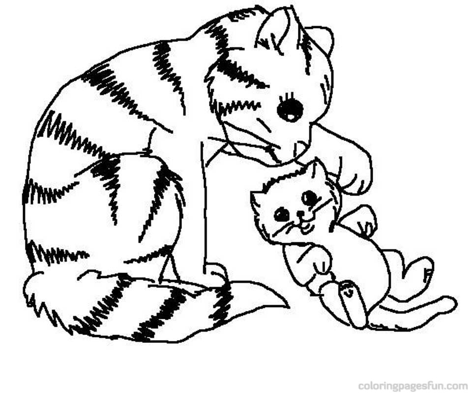 20 Free Printable Kitten Coloring Pages