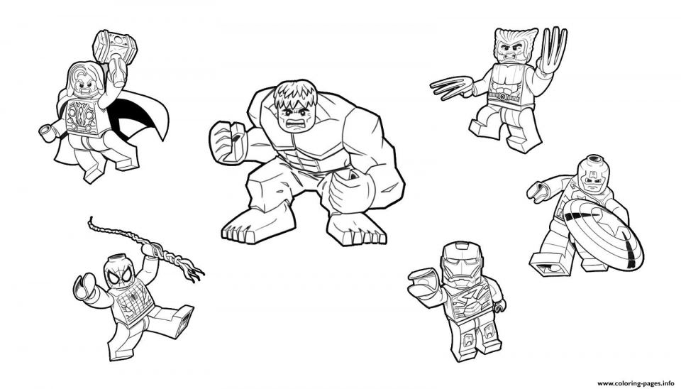 Lego Marvel With Spiderman Coloring Pages Lego Avengers Coloring Lego Marvels