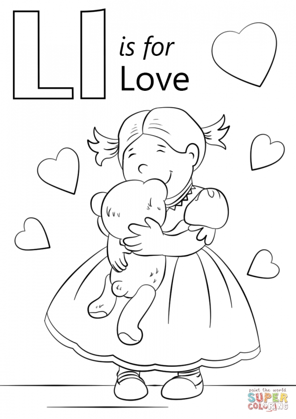 Love Coloring Pages to Print for Kids   14528