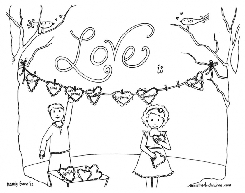 Love Coloring Pages to Print for Kids   17009