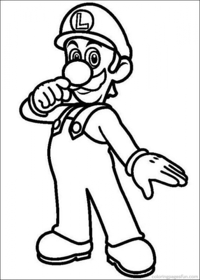 Luigi in Mario Coloring Pages to Print   nvj4c