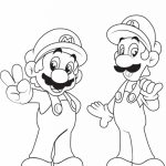Mario Bros coloring pages free   ga27m