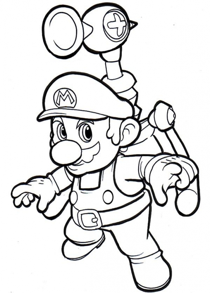 Mario Bros coloring pages free   heus6
