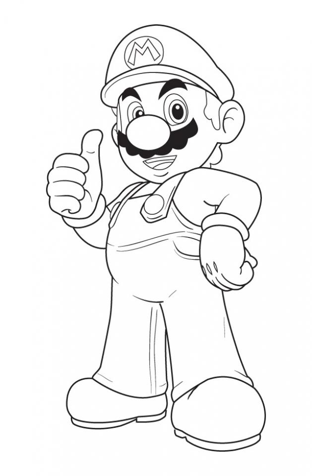 Mario Bros coloring pages free   mcg4n
