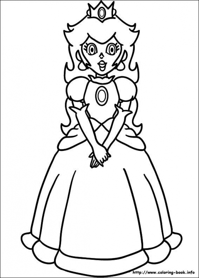 Mario Coloring Pages Princess Peach   74hsl