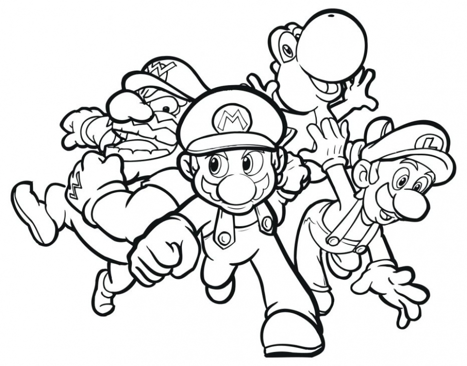 20+ Free Printable Super Mario Coloring Pages - EverFreeColoring.com