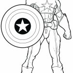 Marvel Coloring Pages Captain America   ywn3l
