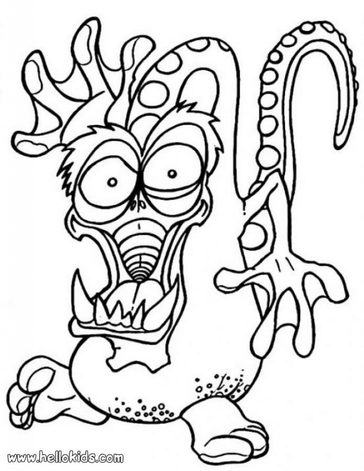 Monster Coloring Pages Free   ycb31