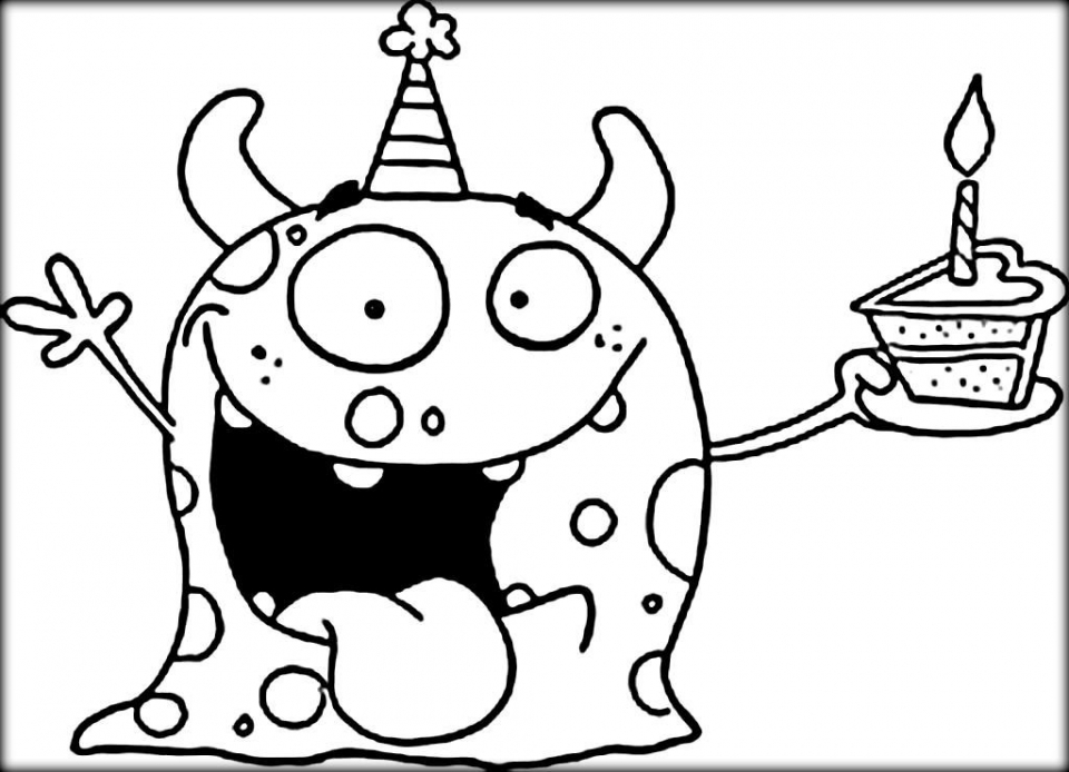 Monster Coloring Pages to Print   957dg3