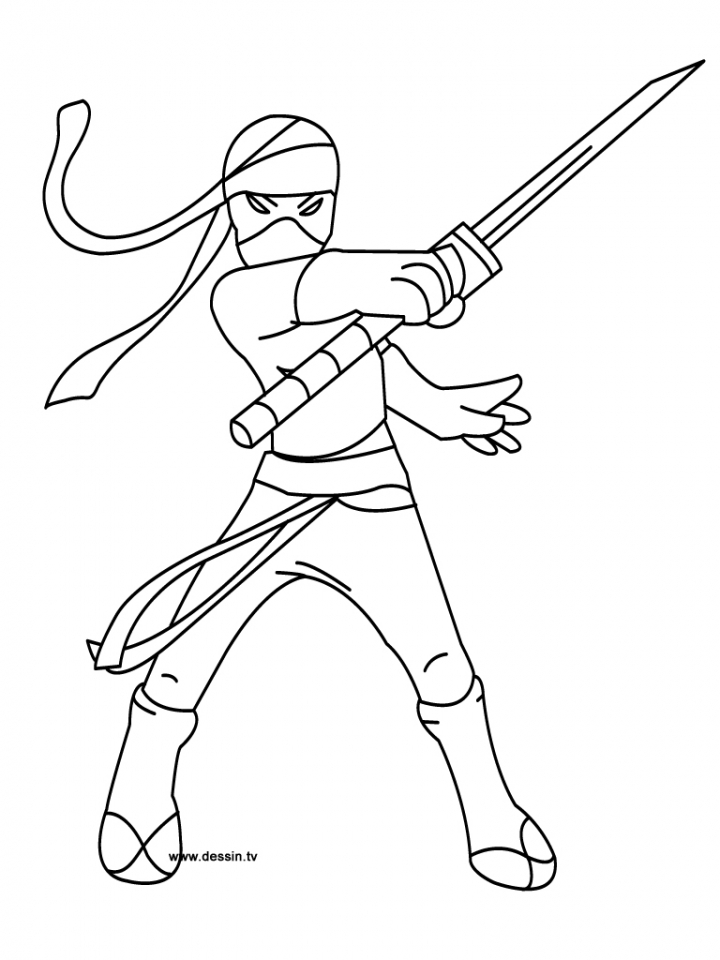 Get This Ninja Coloring Pages Free Printable yf4nc
