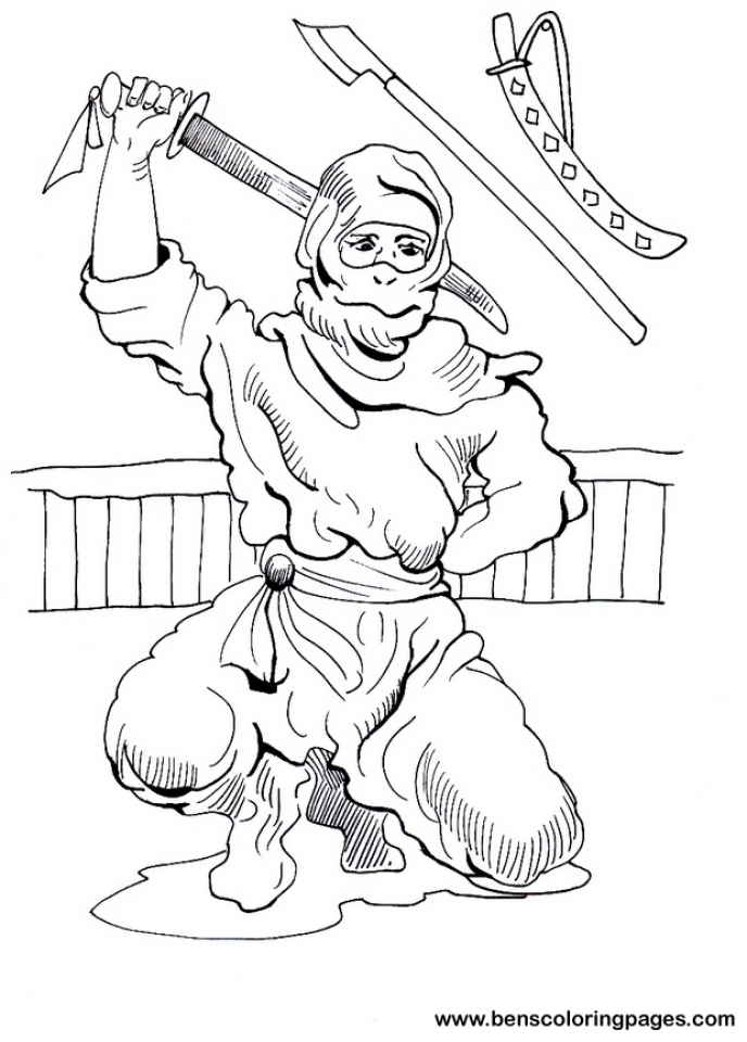 Ninja Coloring Pages Printable   tcb4m