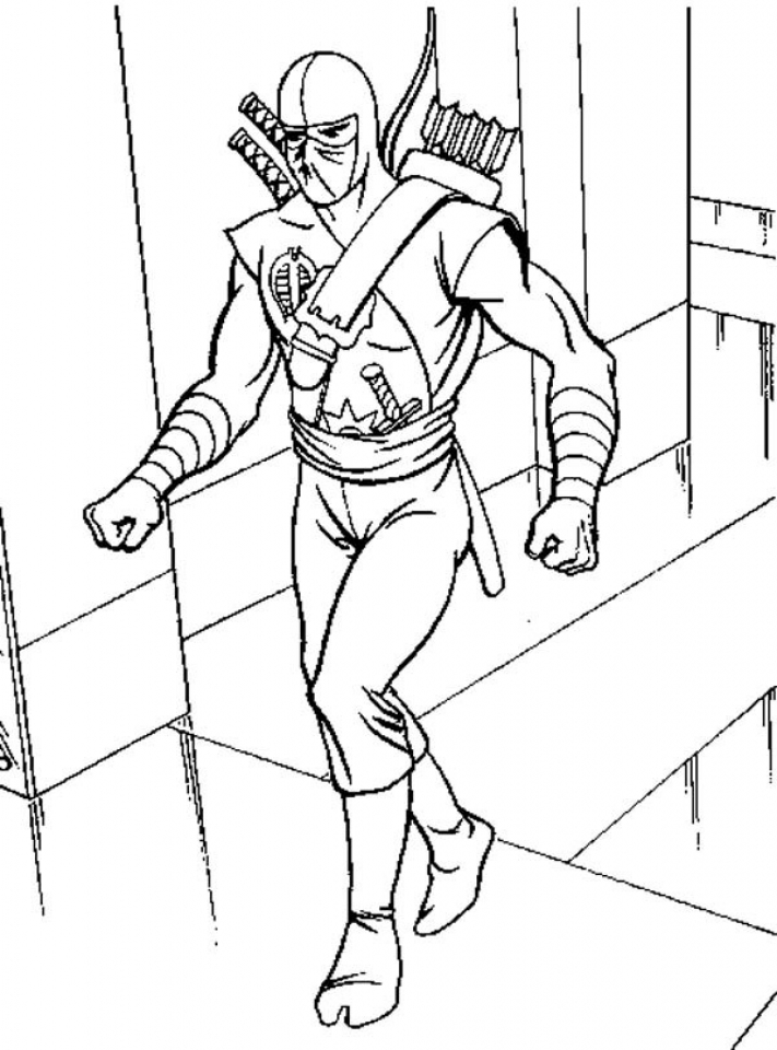 Ninja Coloring Pages Printable   trh5l