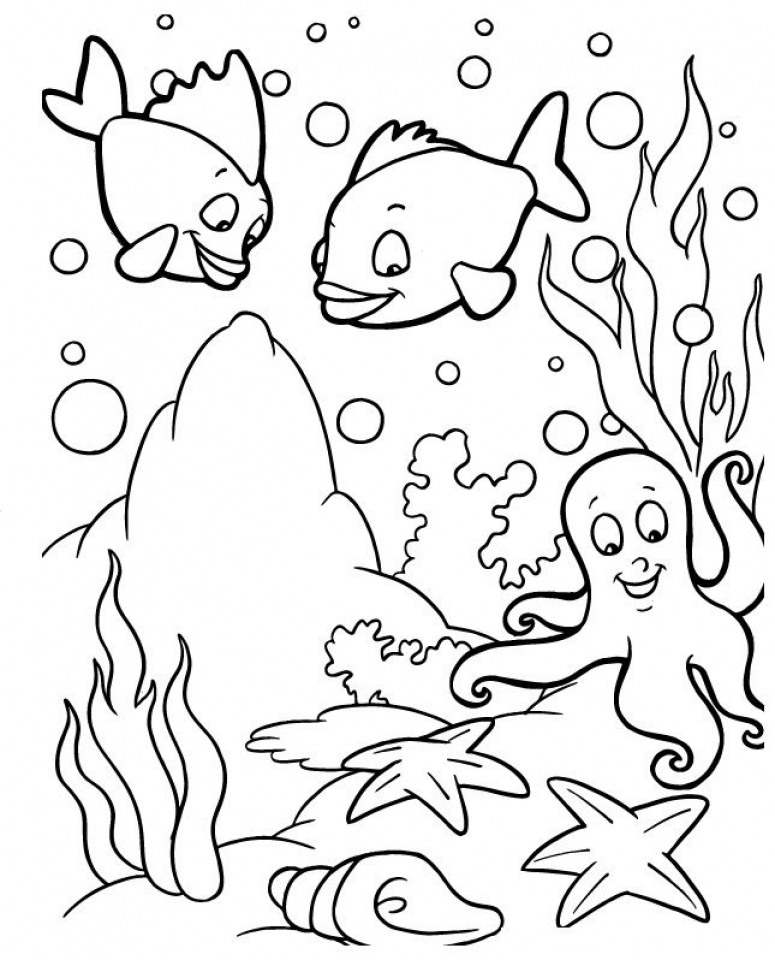 Ocean Animals Coloring Pages   y3ml9
