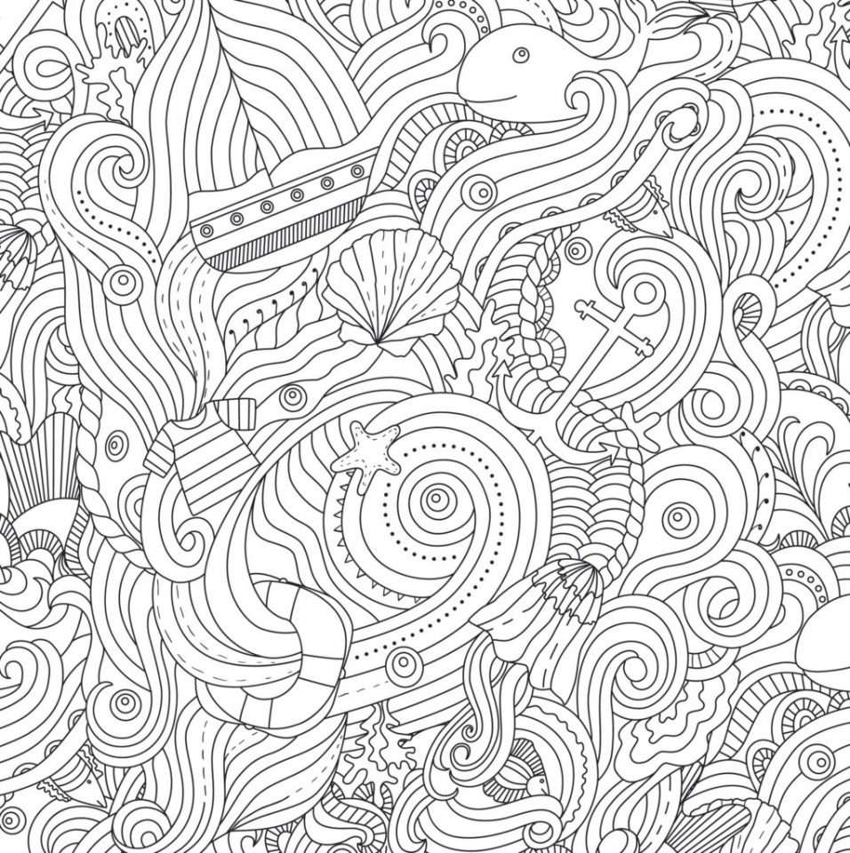 Ocean Coloring Pages for Adults   urb67