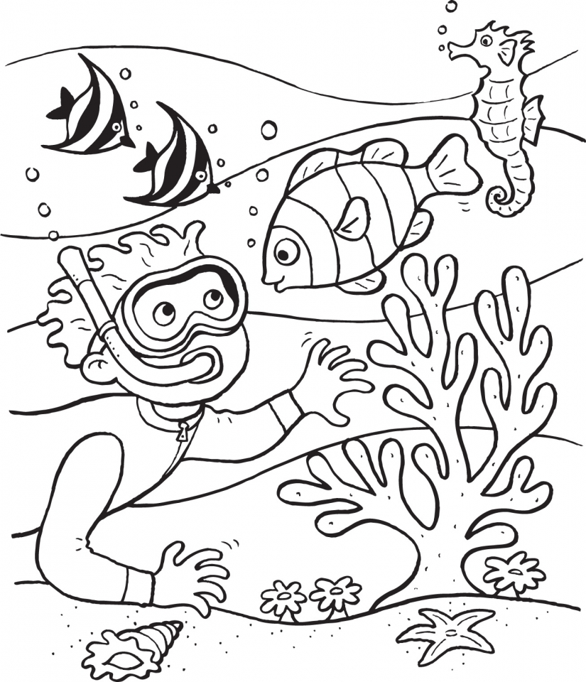 Ocean Coloring Pages for Kids   wy1m9