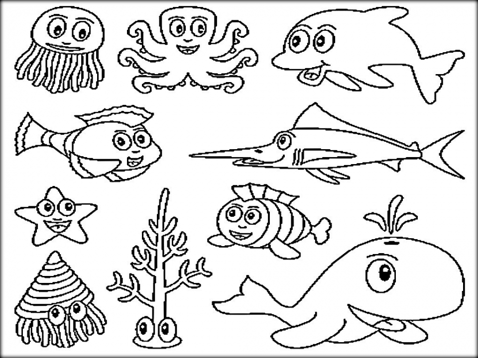 Ocean Coloring Pages for Preschoolers   9yhkl