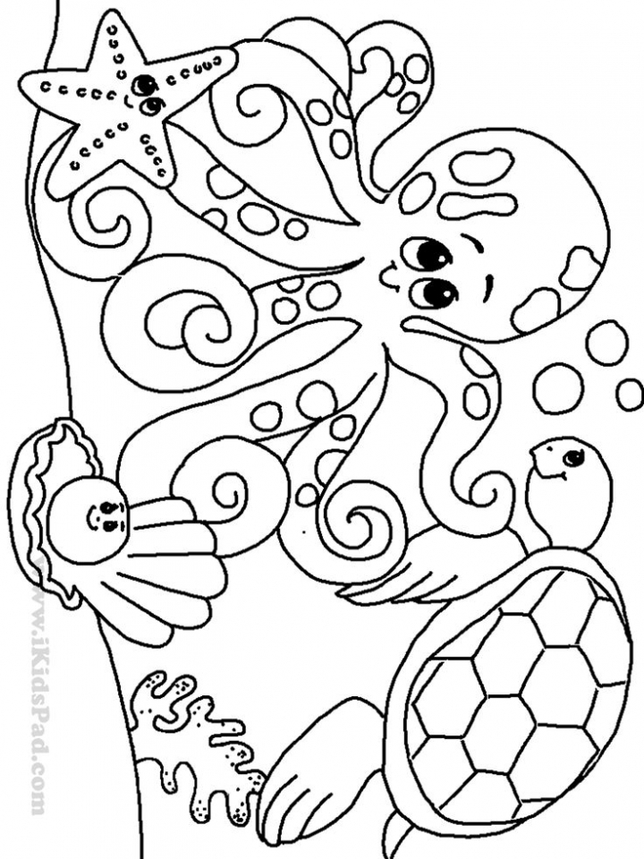 Ocean Coloring Pages Printable   715ag