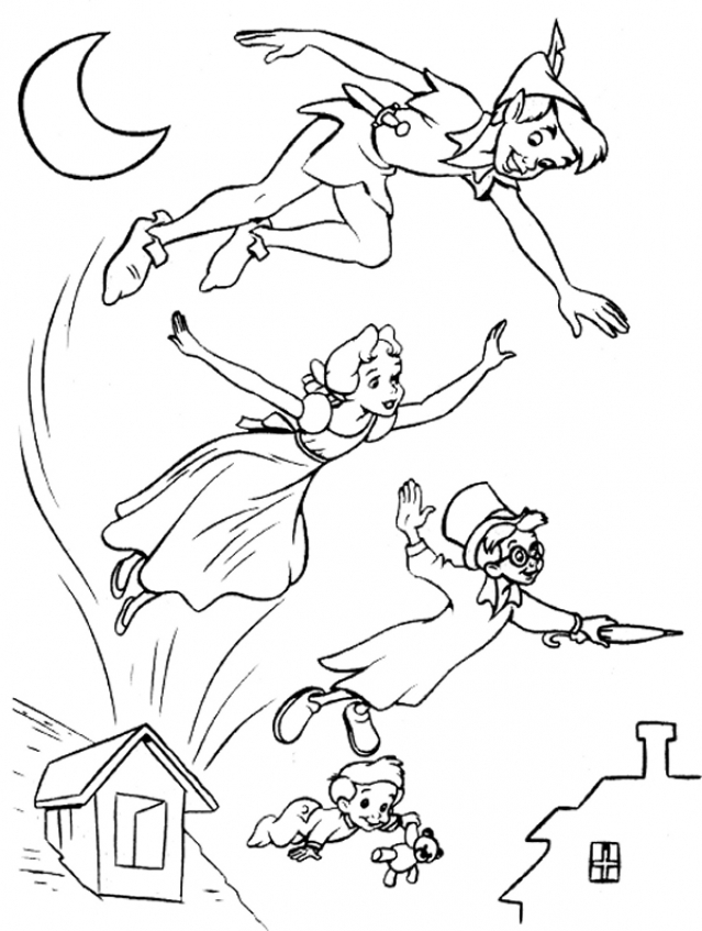 Peter Pan Coloring Pages Printable   1fat3