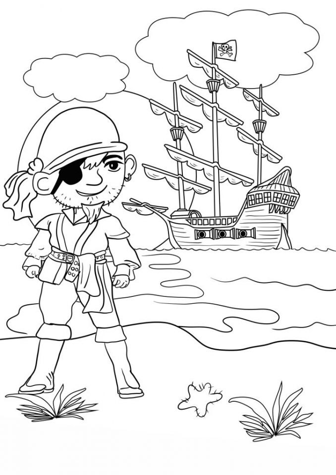 Pirate Coloring Pages Free Printable for Kids   ycb42