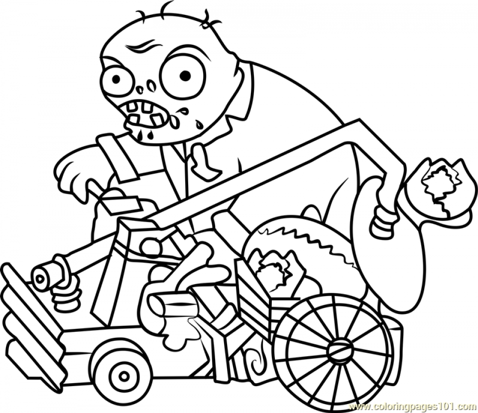 Zombie Coloring Pages Pdf : Color pages zombie coloring printable plants vs zombies
