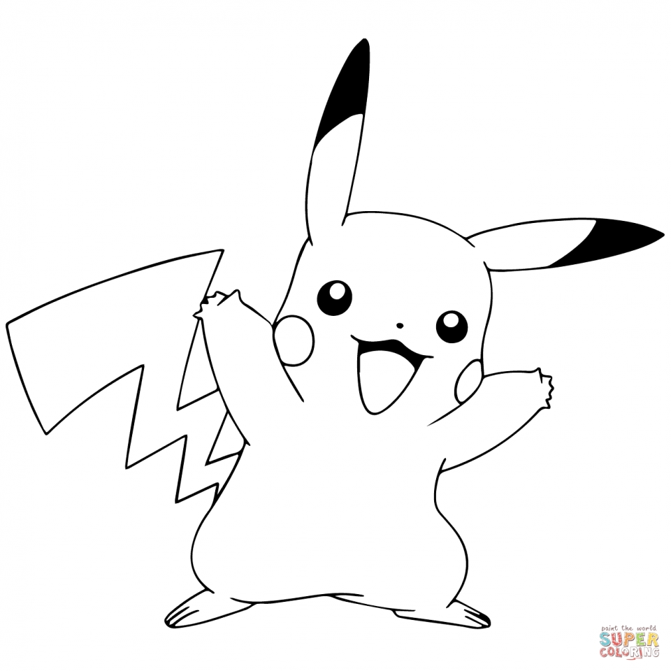 Pokemon Pikachu Coloring Pages   yah59