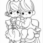 Precious Moments Boy and Girl Coloring Pages   5scag