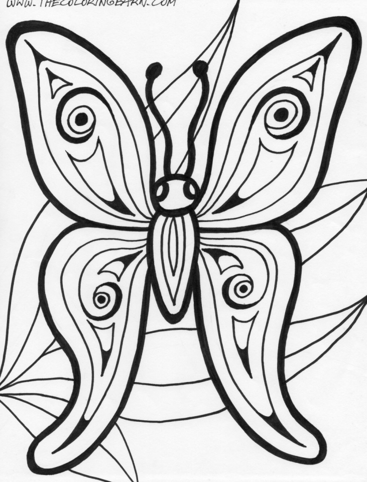 free butterfly coloring page - get this printable butterfly coloring pages for adults 21740